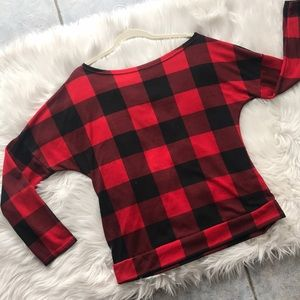 DressWel Buffalo Plaid Long Sleeve top